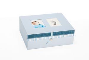 Pearhead - Baby keepsake cake bleu