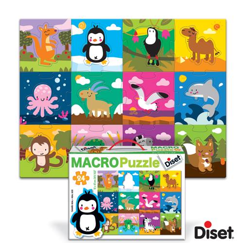 Diset - Macro Puzzle - Habitatul animalelor