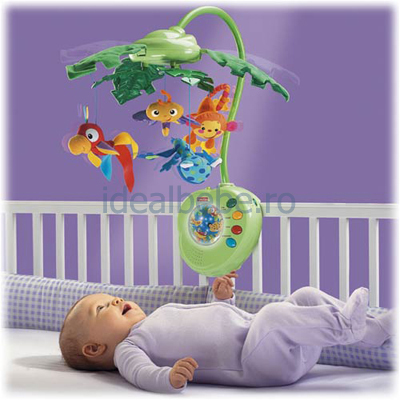 Fisher-Price - Carusel Fisher-Price Rainforest Peek-A-Boo Leaves