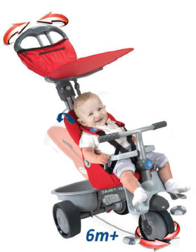 Smart trike - Tricicleta Recliner 4 in 1 Red