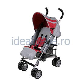 Bambino World- Carucior buggy RED GREY-tip umbrela