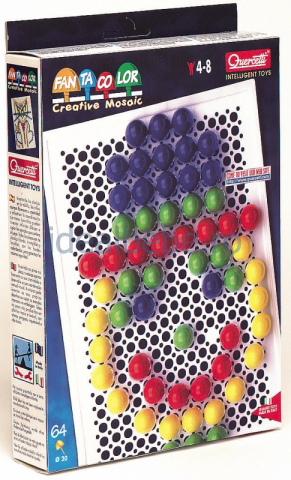 QUERCETTI - Fantacolor 64 bucati cu diametrul de 2 cm