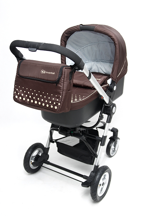 KinderKraft - Carucior 3 in 1 Kraft Brown