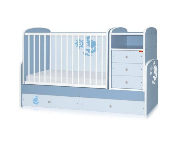 Bertoni - Mobilier lemn MAXI Blue Ocean + cearceaf de pat cadou