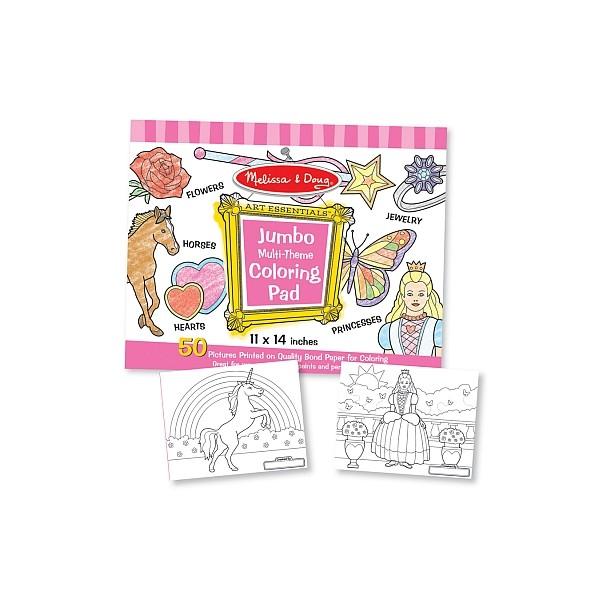 Melissa & Doug - Caiet jumbo cu desene pentru colorat - Roz
