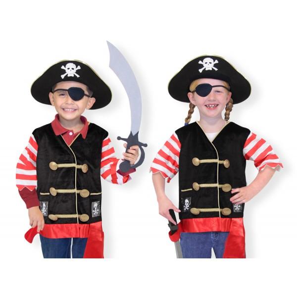 Melissa & Doug - Costum carnaval copii Pirat