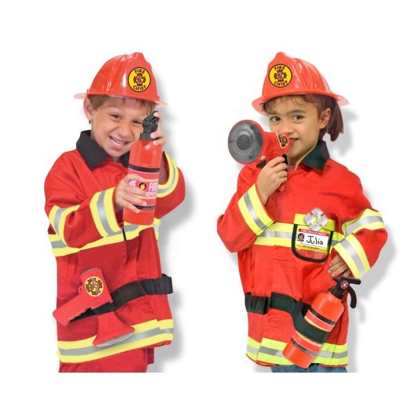 Melissa & Doug - Costum carnaval copii Pompier Sef
