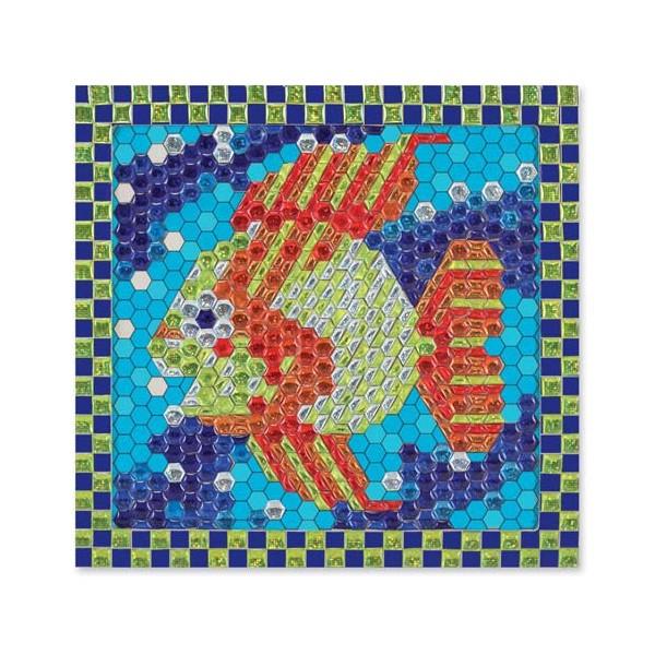 Melissa & Doug - Set de creatie mozaic pe numere Peste Tropical