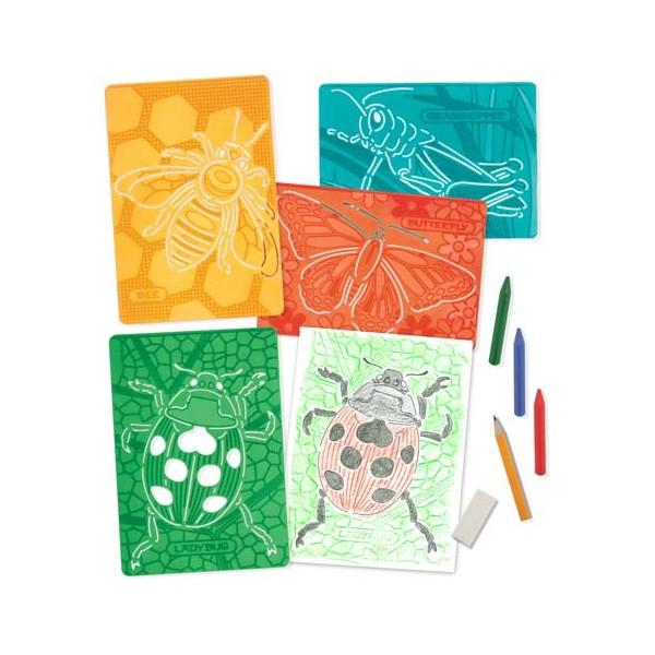 Melissa & Doug - Set de sabloane texturate Insecte