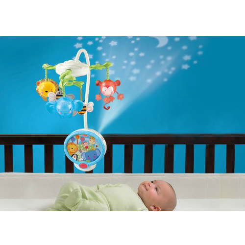 Fisher - Price - Carusel cu Proiector Twinkling Lights Fisher Price